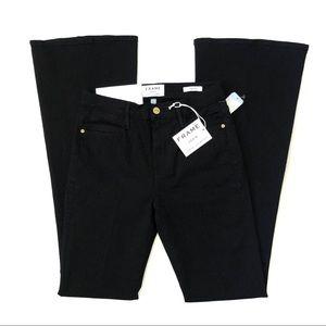 Frame Le High Flare black denim jeans